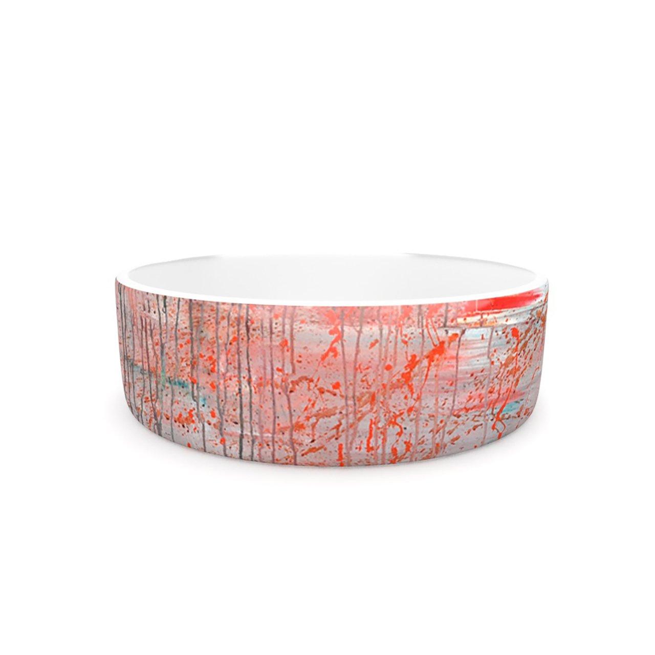 Kess InHouse Iris Lehnhardt Mots de La Terre  Pet Bowl, 7-Inch, Splatter Paint