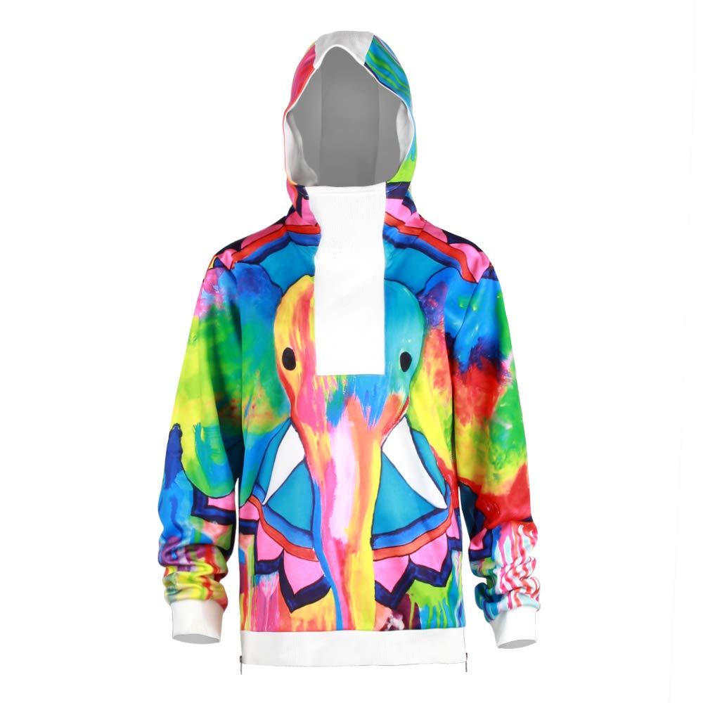 URVIP Unisex Patterns Print Athletic Sweaters Fashion Hoodies Sweatshirts BEU-002 XXL by URVIP
