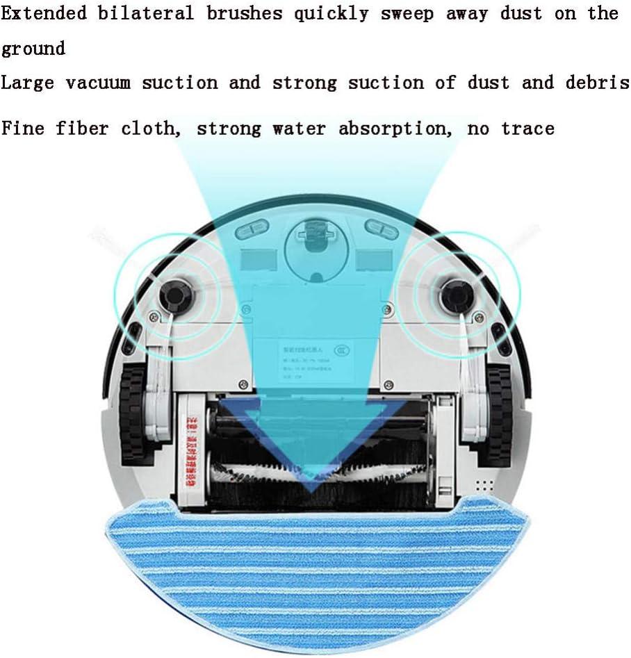 XJZKA Robot de Balayage télécommandé, aspirateur Rechargeable Automatique Infrarouge Anti-Chute adapté au Nettoyage des Poils d\'animaux-Bleu Rose