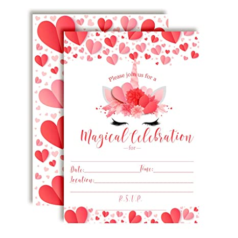 Amazon Magical Unicorn Face February Valentine Birthday Party