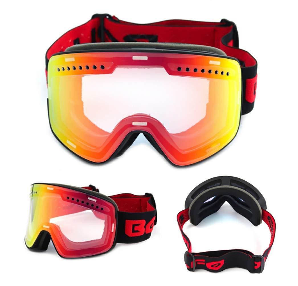 A  SLDAGe Lunettes de Ski, Lunettes de Ski magnétiques - Double Anti-buée - Coke Myopia Simple et Double-Planche - Lunettes de Sport