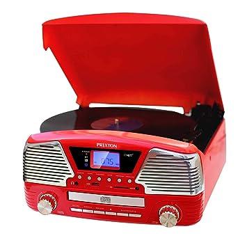 PRIXTON VC500 - Tocadiscos Vintage de Vinilos con Altavoces y ...