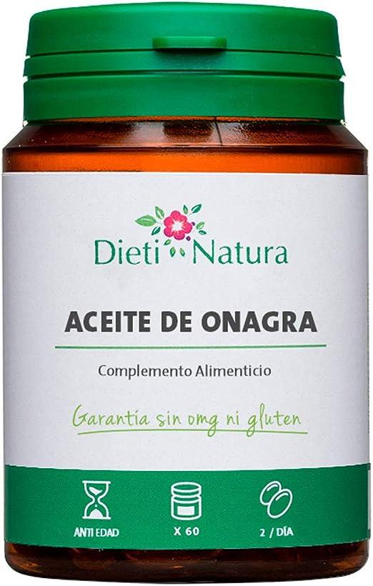 Aceite de Onagra 200 cápsulas de Dieti Natura. Confort femenino [Fabricado en Francia][Garantía Sin OGM ni Gluten] (Bote de 200 cápsulas): Amazon.es: Salud y cuidado personal