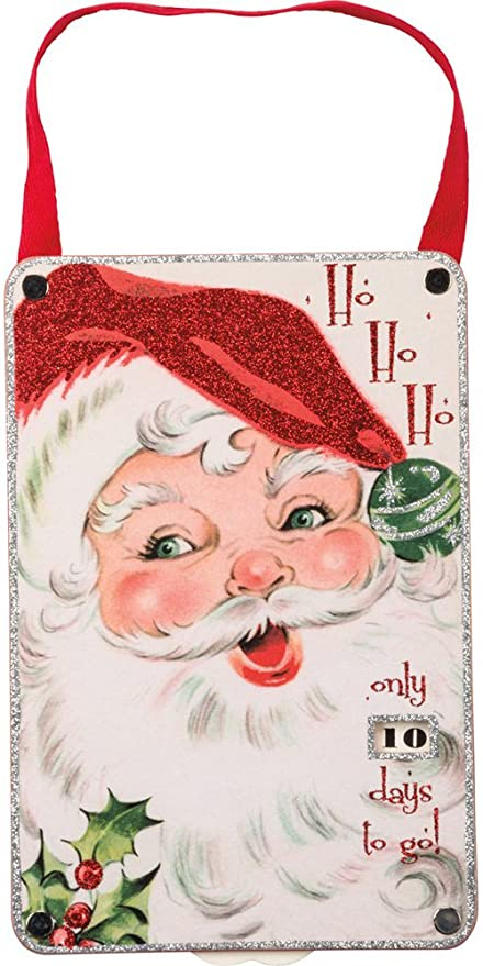 primitives by kathy vintage christmas countdown wall dcor ho - Vintage Christmas Wall Decor