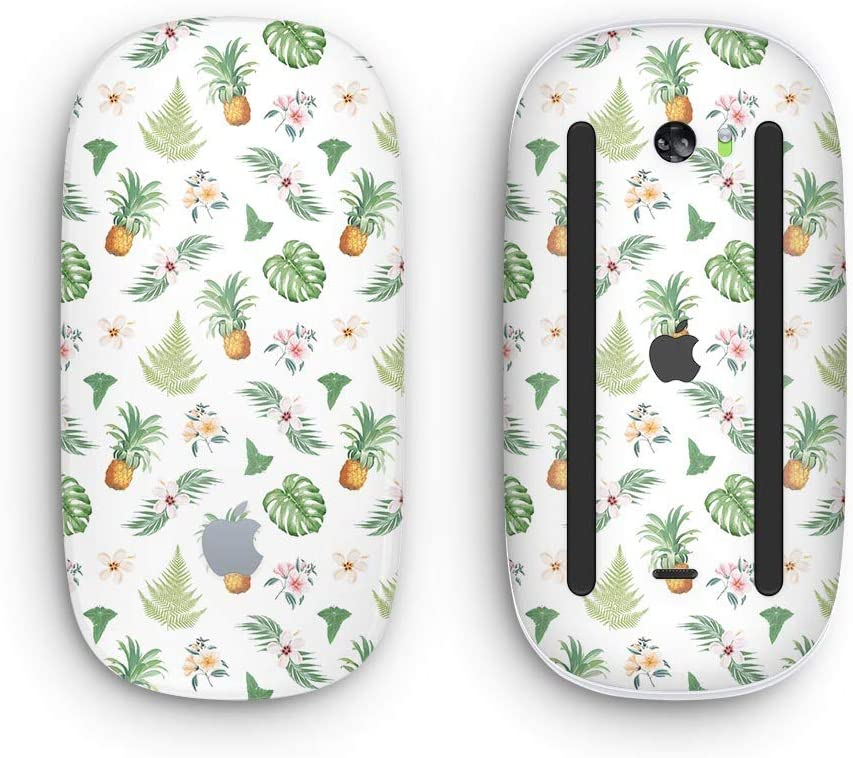 with Multi-Touch Surface Wireless, Rechargable The Tropical Pineapple and Floral Pattern Design Skinz Premium Vinyl Decal for The Apple Magic Mouse 2