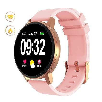 GOKOO Montre Connectée Hommes Femmes Écran Tactile Complet Montre Intelligente Sport Smartwatch avec Moniteur De Sommeil Podomètre Caméra à Distance ...