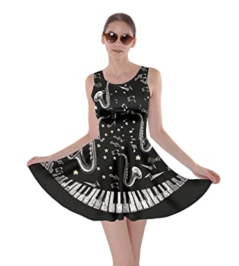 1f012314cc CowCow Women s Fashion Beautiful Musical Pattern Notes and Piano ...