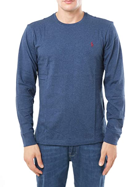 Ralph Lauren Polo Maglia UOMO Monroe Blue Heather: Amazon.es: Ropa ...