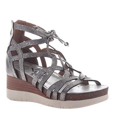 92386c603970c7 OTBT Women s Escapade Wedge Sandals - Silver - 5.5