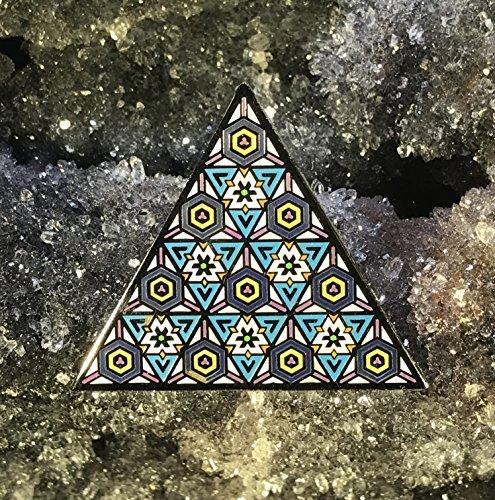 Sacred Energy Triangle Sacred Geometry Enamel Hat Pin Festival Pin Grateful Dead Pin Dab Pin Disney Pin