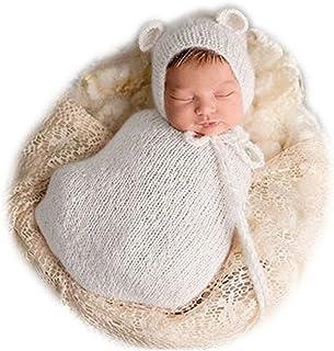 Fashion Newborn Boy Girl Baby Costume Knitted Photography Props Hat Sleeping Bag JM-847