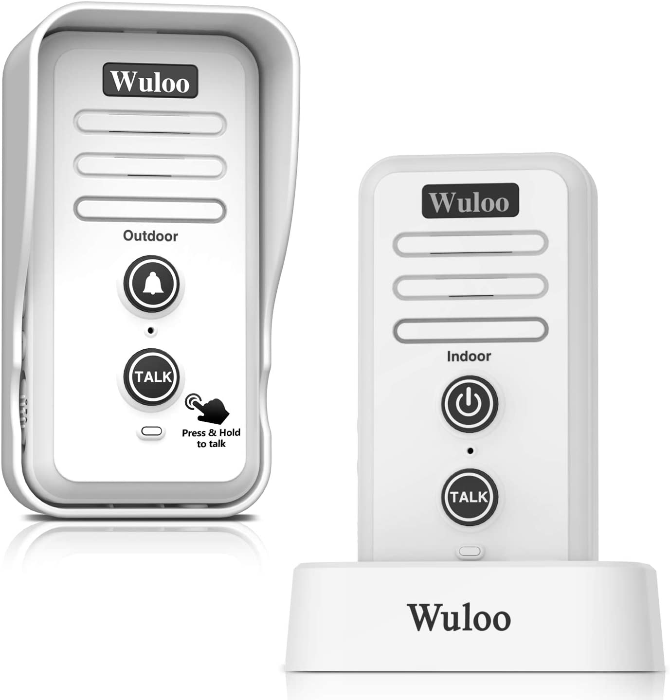 Wireless Intercom Doorbell Chime for Home Intercomunicador (1T1 White) ...