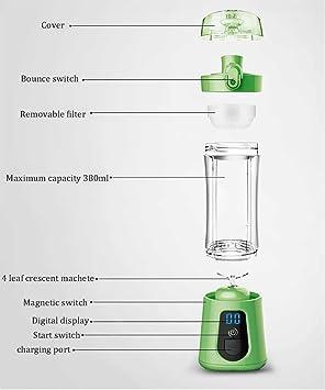 NANXCYR Mini licuadora y mezcladora con Extractor de Jugo de ...