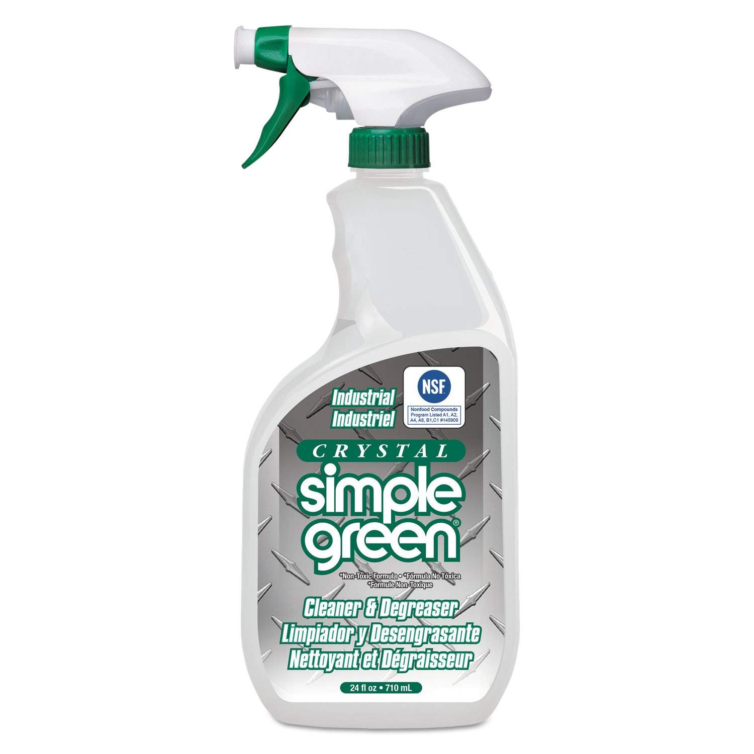 Simple Green 19024 Crystal Industrial Cleaner/Degreaser, 24oz Bottle