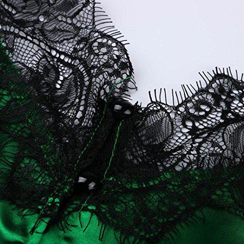 Cami Camisole sans Sexyville Vest Manche pissure Vert Dbardeur Bouton Femmes Shirt Dentelle T Et Chemisier Tops xFnCqn64w