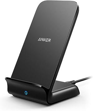 Anker Cargador inalámbrico rápido, Soporte de Carga inalámbrico rápido 7.5W 10W 5W para iPhone, Samsung para iPhone XRXS MAXXSX 8, Galaxy S9