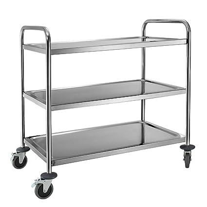 1 x 3 carrito de limpieza carrito de restaurante cocina carrito de servicio de alimentos de