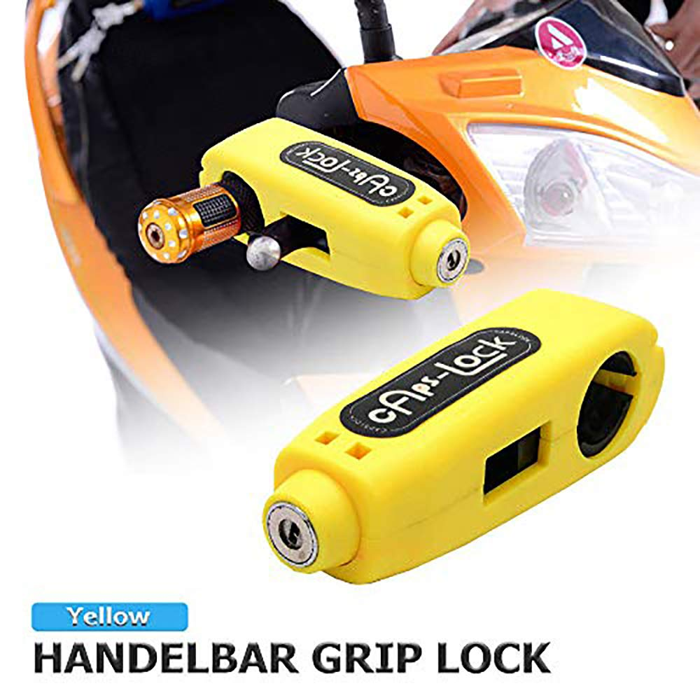 1.5m Reminder Cable Motorcycle Handlebar Lock Set D Motorbike Heavy Duty Padlock Anti-Theft Security Lock Set Maso Alarm Disc Brake Lock
