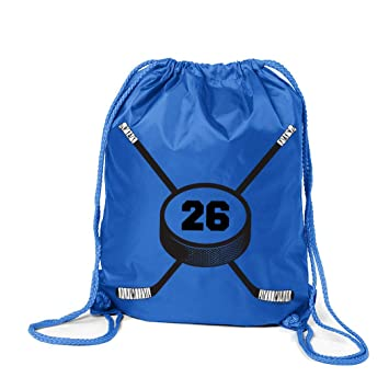 4f370dfc905a Amazon.com | Personalized Hockey Sport Pack Cinch Sack | Custom ...