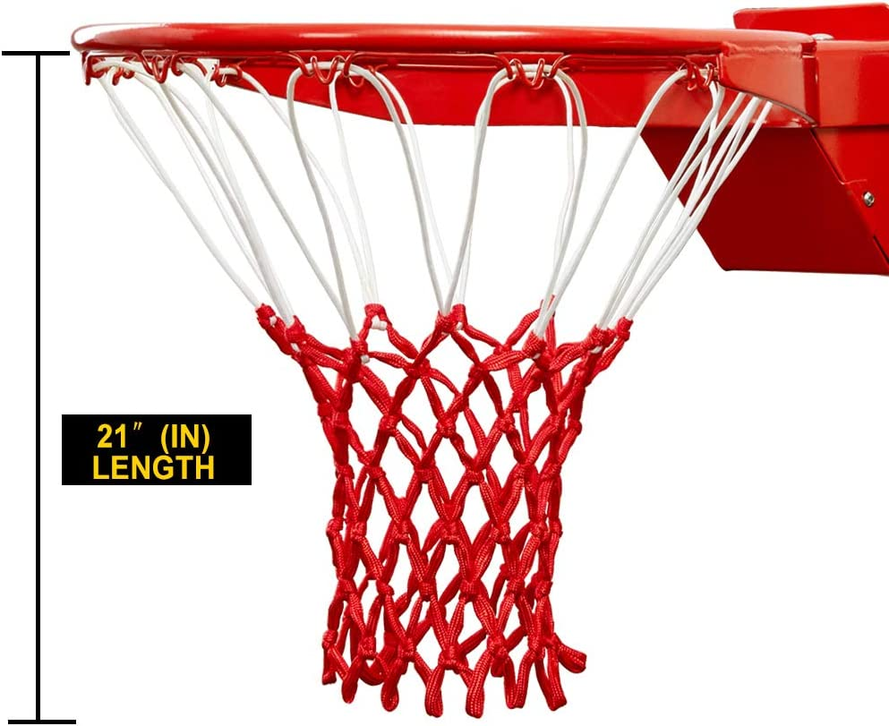 Durable Sturdy Professional Multi Basketball Net,2 Pack Ultra Heavy Duty Basketball Net Replacement Red White Blue 2 Pack SUPEROK Basketball Net Fits Standard Indoor or Outdoor Basketball Hoop