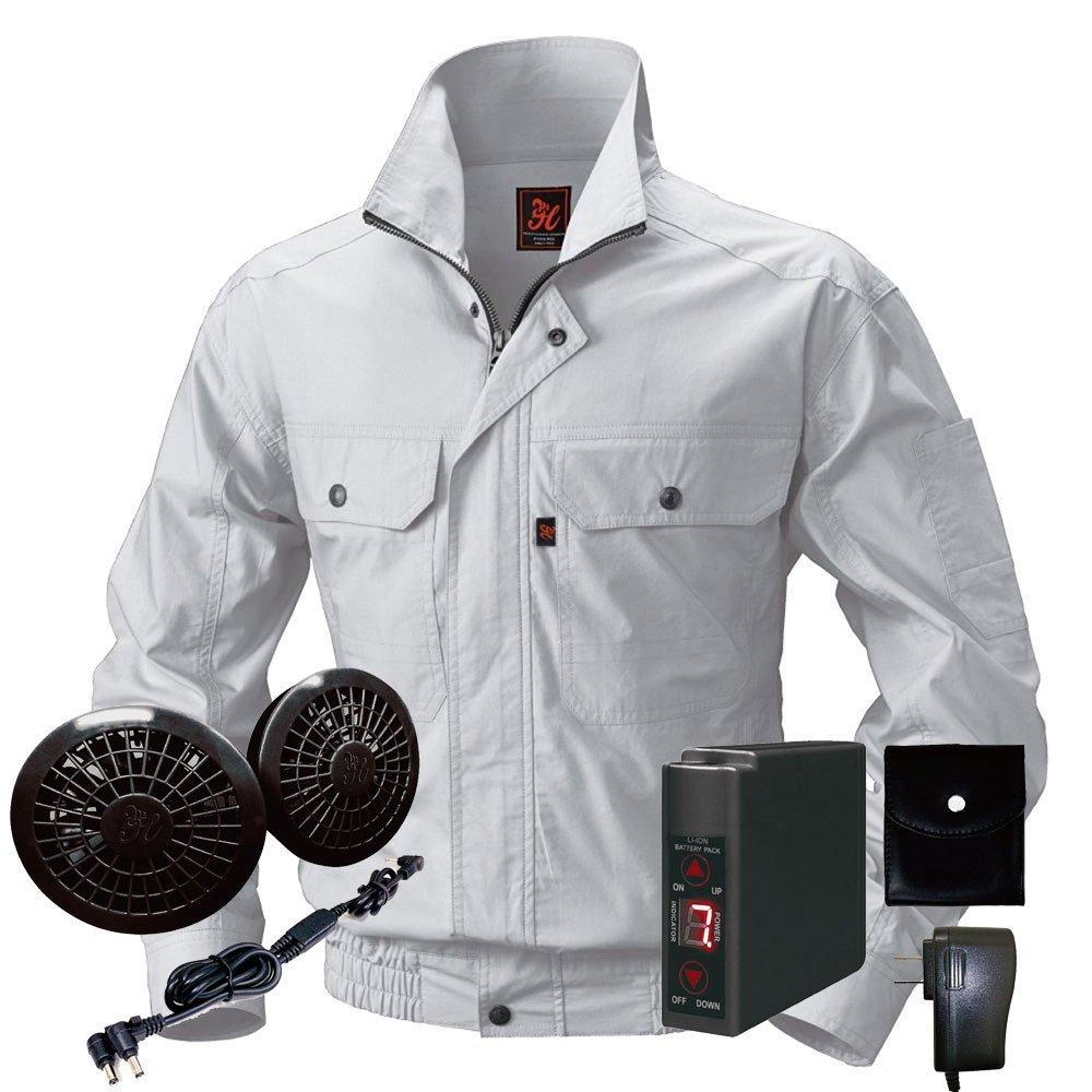 空調服快適ウェア ブルゾンバッテリーセット V722202set B071JWZSRC M|39シルバーグレー 39シルバーグレー M