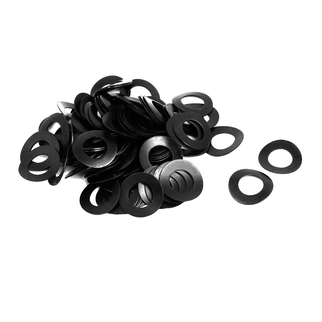 uxcell 8mm Fitting Dia Carbon Steel Compressed Type Curved Spring Washer 100pcs