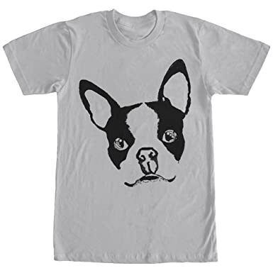 Lost Gods Men S Boston Terrier Dog T Shirt Silver Amazon Co Uk