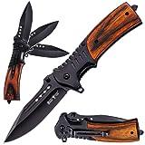 Pocket Knife Spring Assisted Folding Knives - Military EDC USMC Tactical Jack Knifes - Best Camping Hunting Fishing…