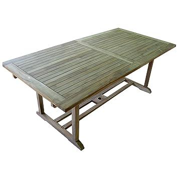Amazon De Ausziehbarer Teaktisch Gartentisch 160 220 X 100 X 75 Cm