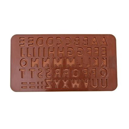 Moldes de Pastel Gelatina Bandeja Cubitos Hielo Congelado Chocolate 26 Letras Herramientas