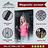 Minamar Magnetic Screen Door with Velcro Easy to Install 35''x82'' Keep Bugs Out As Seen On TV