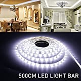 MIHAZ Light Outdoor strips 16.4ft 5M 300 LED 2835 Waterproof White Light Power White PCB Supply For Home and Kitchen Decoration