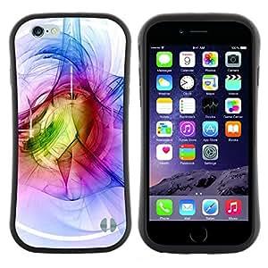 "Hypernova Slim Fit Dual Barniz Protector Caso Case Funda Para Apple (4.7 inches!!!) iPhone 6 / 6S (4.7 INCH) [Azul Blanco Verde abstracto Túnel""]"