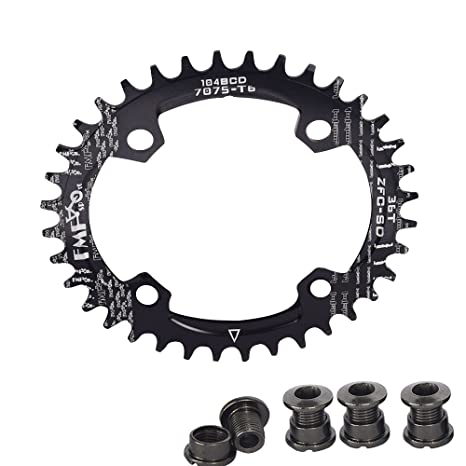 MTB AM Narrow Wide Oval Single Chainring Chain Ring BCD104mm 32 34 36 38T Bolts