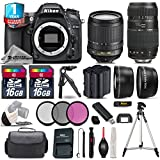 Holiday Saving Bundle for D7100 DSLR Camera + Tamron 70-300mm Di LD Lens + 18-105mm VR Lens + Backup Battery + 1yr Extended Warranty + 2 Of Ultra Fast 16GB Class 10 + Case - International Version