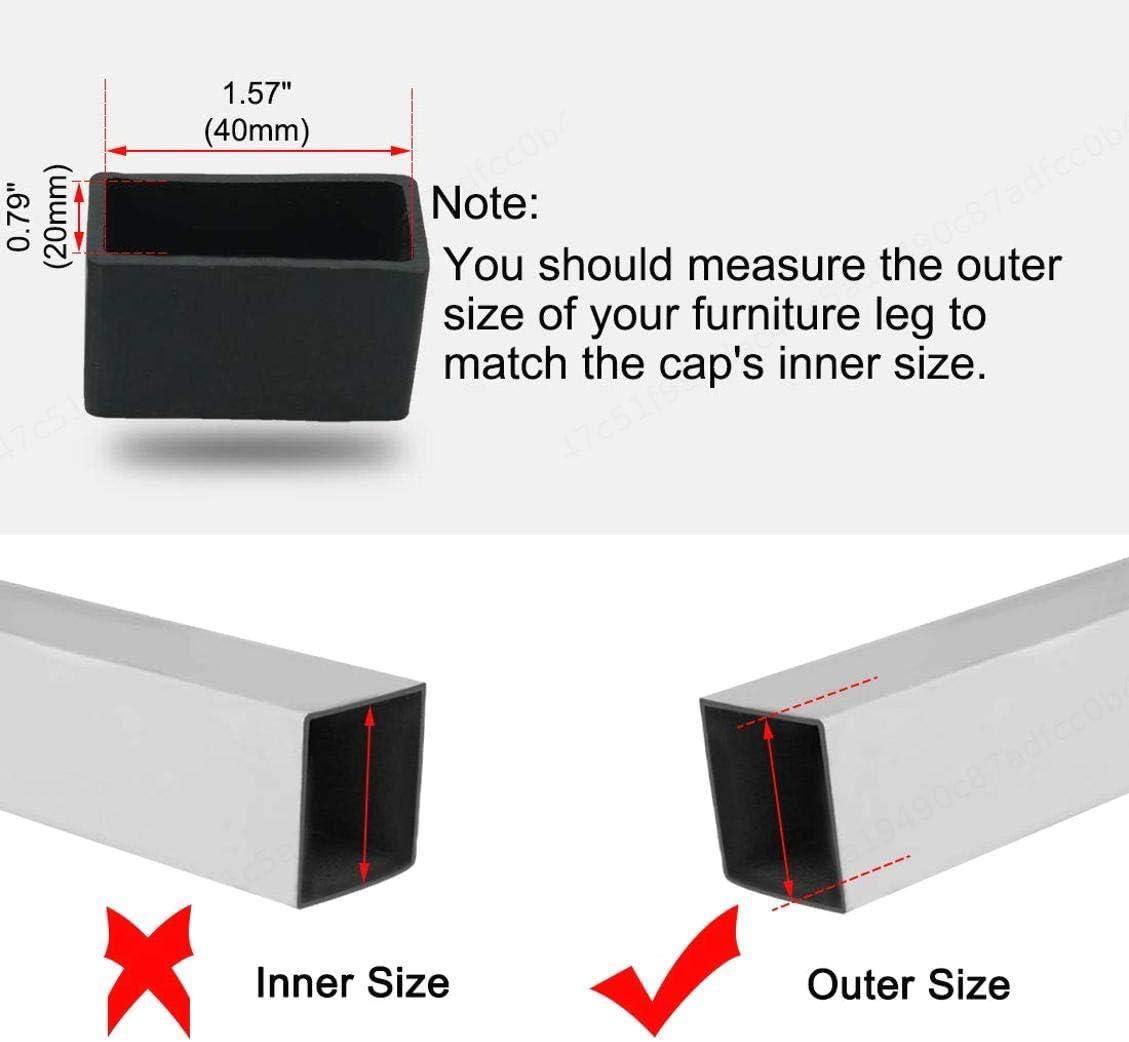 20 x 40 mm reduce el ruido y evita ara/ñazos 8 tapones de goma para patas de silla protectores de pies para muebles iMiMi tama/ño interior