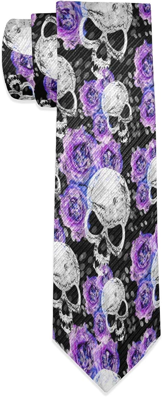 Wamika Corbata para hombre con diseño de calavera y hojas ...