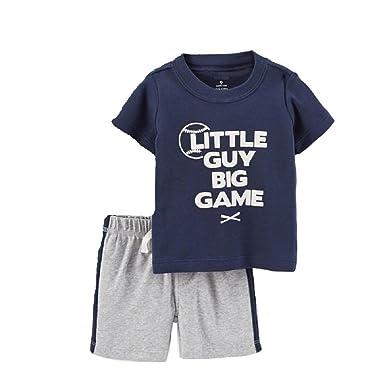 d3cf08ff08d10 Amazon.com: Hooyi Baseball Children Clothes Suit Boy Cotton Short ...