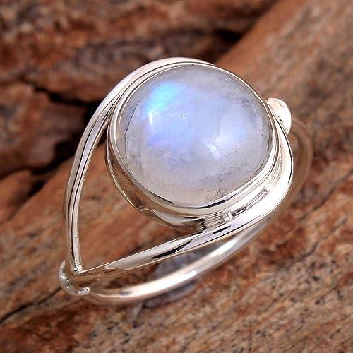 Moonstone cab Gemstone 925 Sterling Silver Easter Sale Ring Size Choose