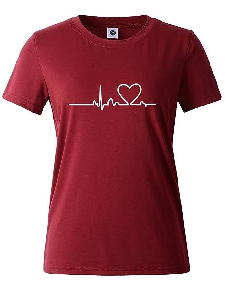 T-shirt girocollo con stampa scritta Donna t-shirt maglietta maglia maniche cort