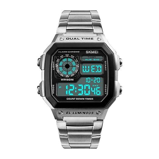 Hemobllo Reloj Deportivo para Hombres Moda Reloj Impermeable ...