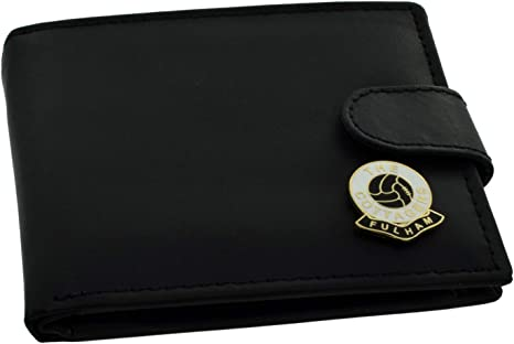 Fulham FC 'The Cottagers' Football Club Genuine Black Leather Wallet