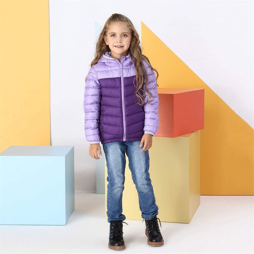 KAOKAOO Kids Lightweight Puffer Down Jacket for Girls Boys Hooded Winter Coat