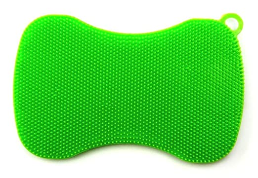 3 opinioni per Spugnetta in silicone Swisch da cucina, colore: verde