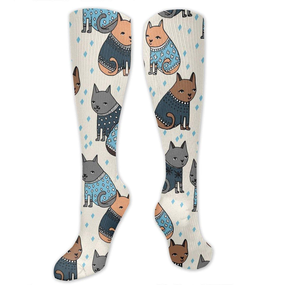 Varicose Veins Travel Athletic Ygsdf59 Ugly Cat Christmas Compression Socks for Women and Men Best Medical,for Running