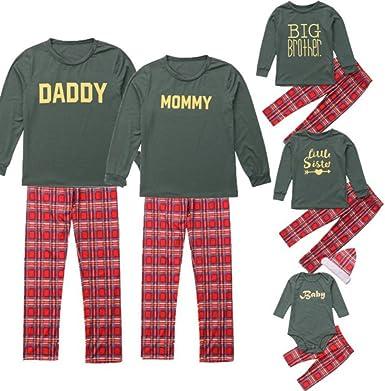 Miyanuby Hombre Mujere Niño Niña Bebé Conjuntos de Pijamas Algodón Suave Ropa para Dormir Pijama Familiar Navideño para Papá Mamá Bebé: Amazon.es: Ropa y accesorios