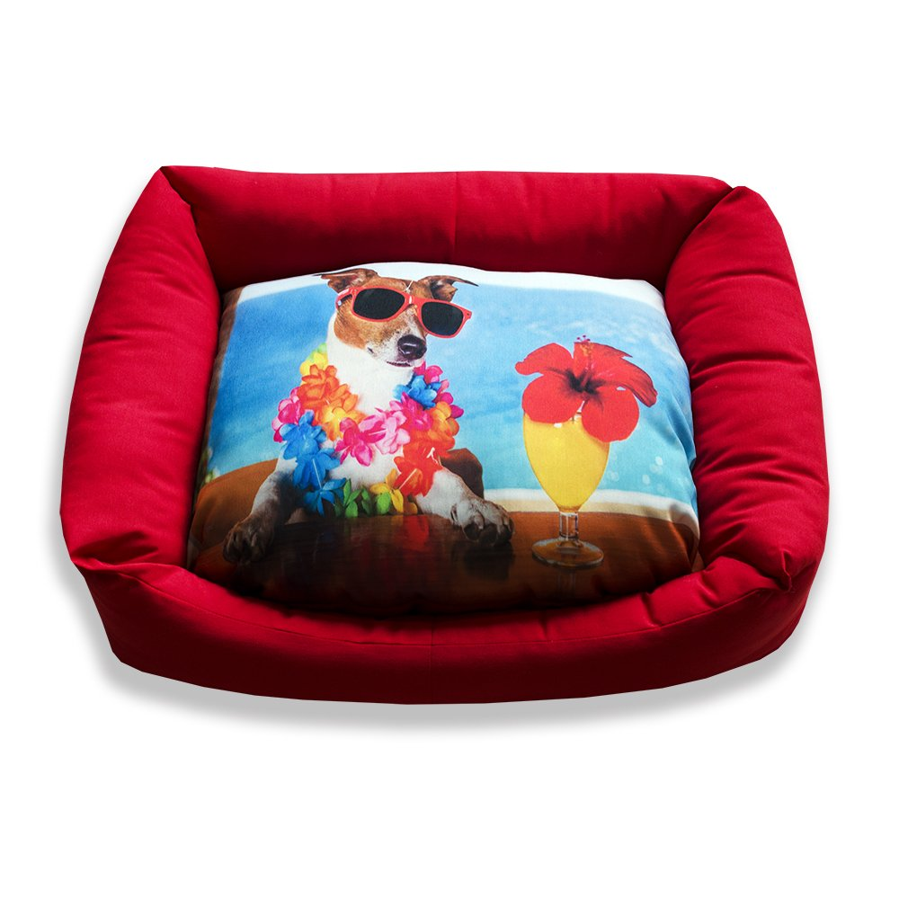 DAGOSTINO HOME - Cama cuna tridimensional para mascotas BEACH PARTY - S - 30X40: Amazon.es: Productos para mascotas