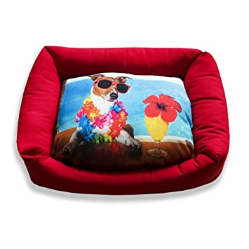 DAGOSTINO HOME - Cama cuna tridimensional para mascotas BEACH PARTY - S - 30X40