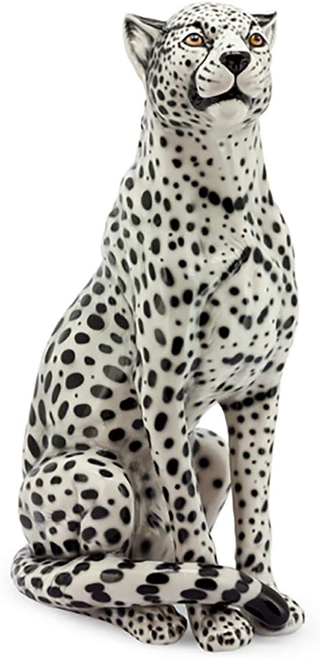 Blue Leopard  Ceramic sculpture