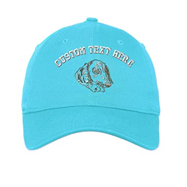 b99a8380650 Custom Dachshund Embroidery Design Unisex Adult Flat Solid Buckle Cotton 6  Panel Unstructured Baseball Hat Adjustable